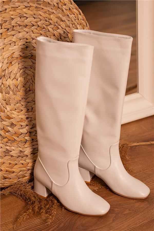 White Top Boot
